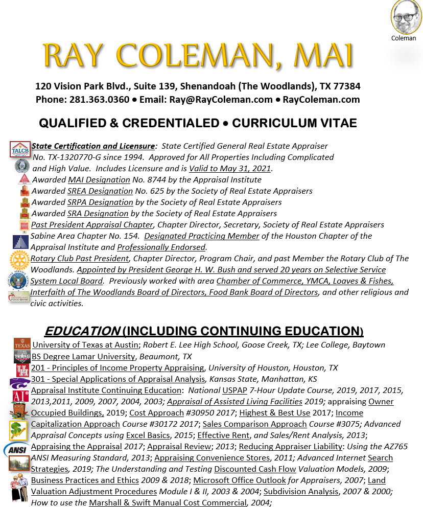 Ray Coleman credentials